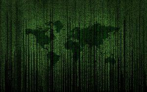 World Map Matrix Typography 8K