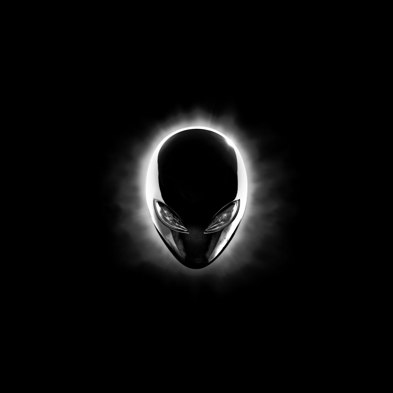 Alienware Eclipse Head (Black) 8K UHD Wallpaper