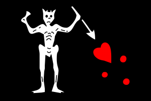 "The flag of Blackbeard ""Edward Teach"" (Pirate) HD"