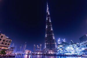 Burj Khalifa At Night (Dubai) 4K