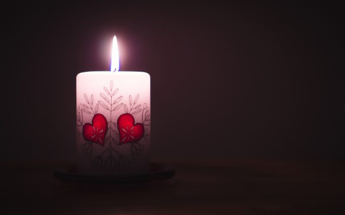 Candle With Hearts