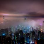 Hong Kong During A Foggy Night
