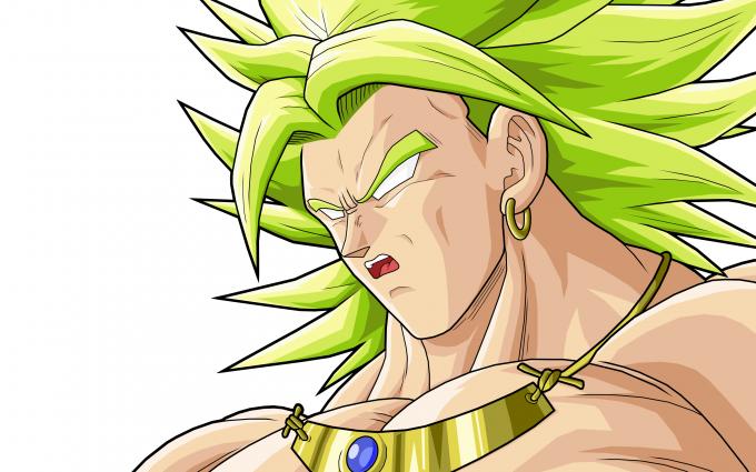 Legendary Super Saiyan Broly Green Hair