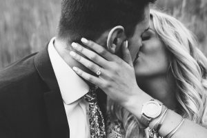 Lovely couple who kissing each other (Black and white) 6K