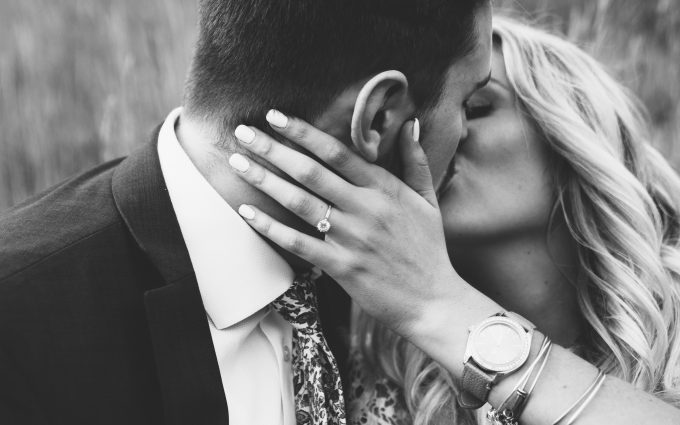 Lovely Couple Who Kissing Each Other