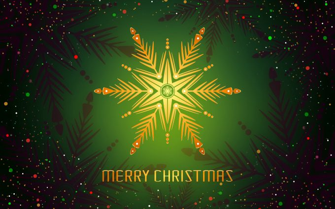 Merry Christmas Green