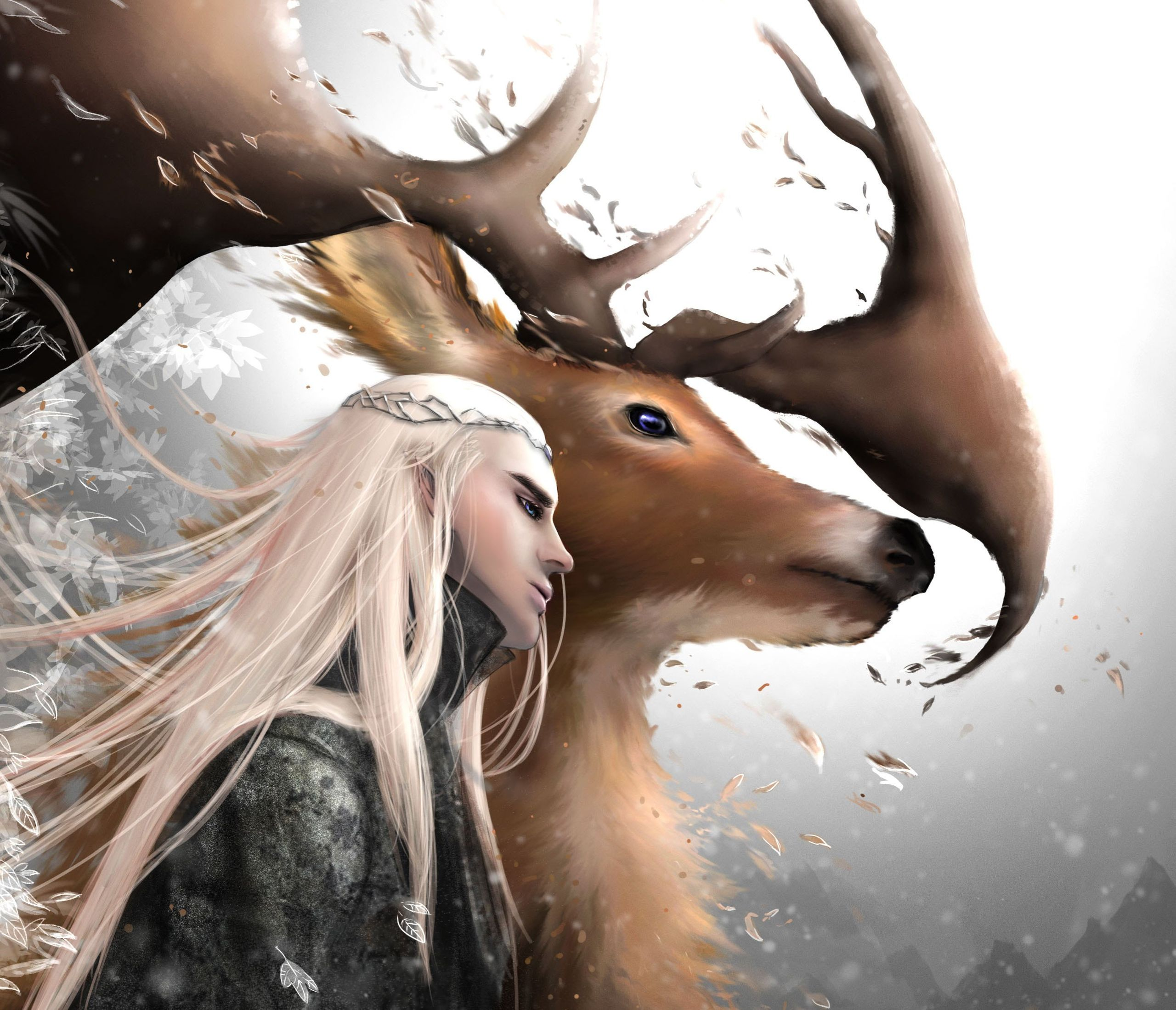Thranduil And His Elk (The Hobbit) HD Wallpaper