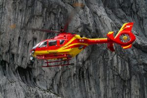 Yellow Red Rescue Helicopter