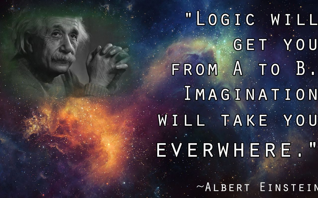 Albert Einstein Logic Imagination Quote HD