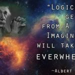 Albert Einstein Logic And Imagination Quote