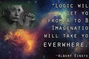 Albert Einstein: Logic & Imagination Quote HD