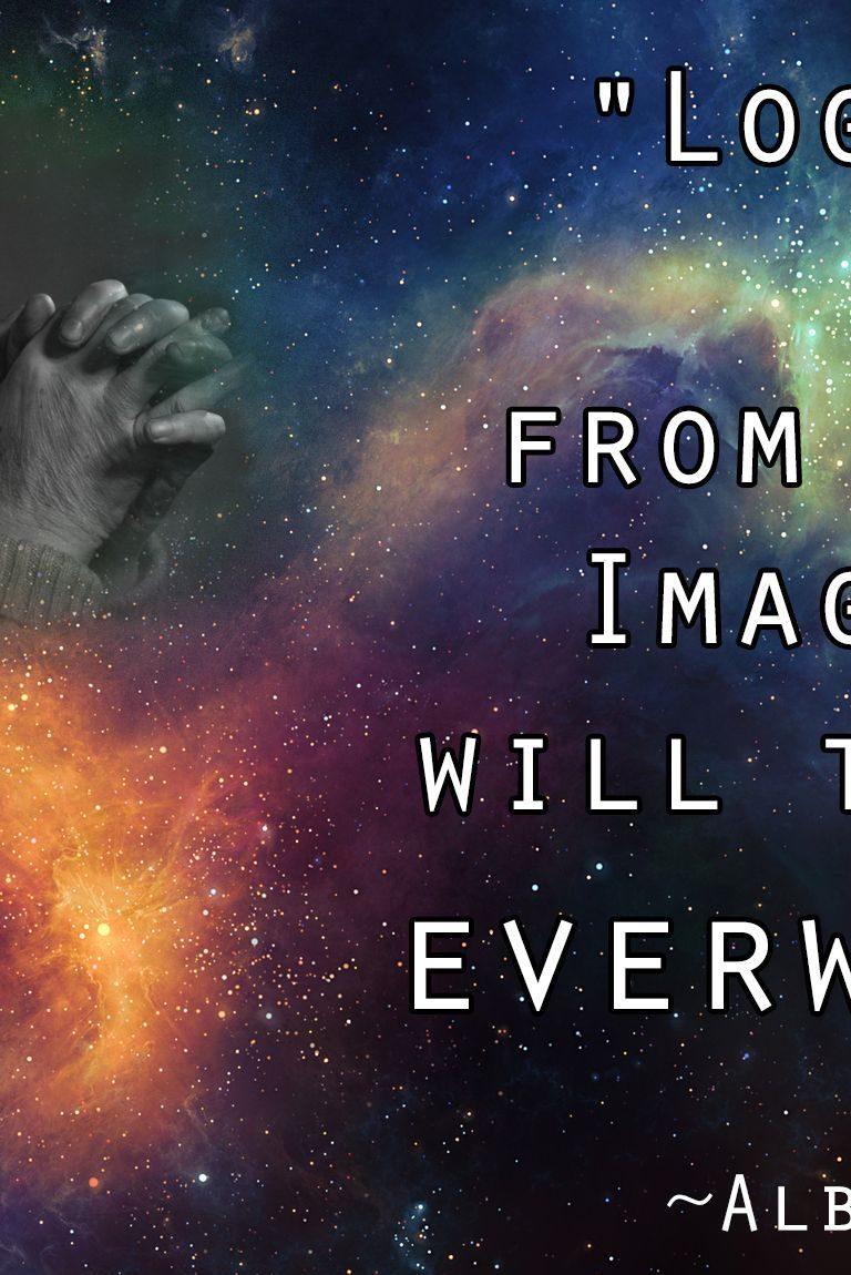 Albert Einstein Quote on Imagination HD Wallpapers