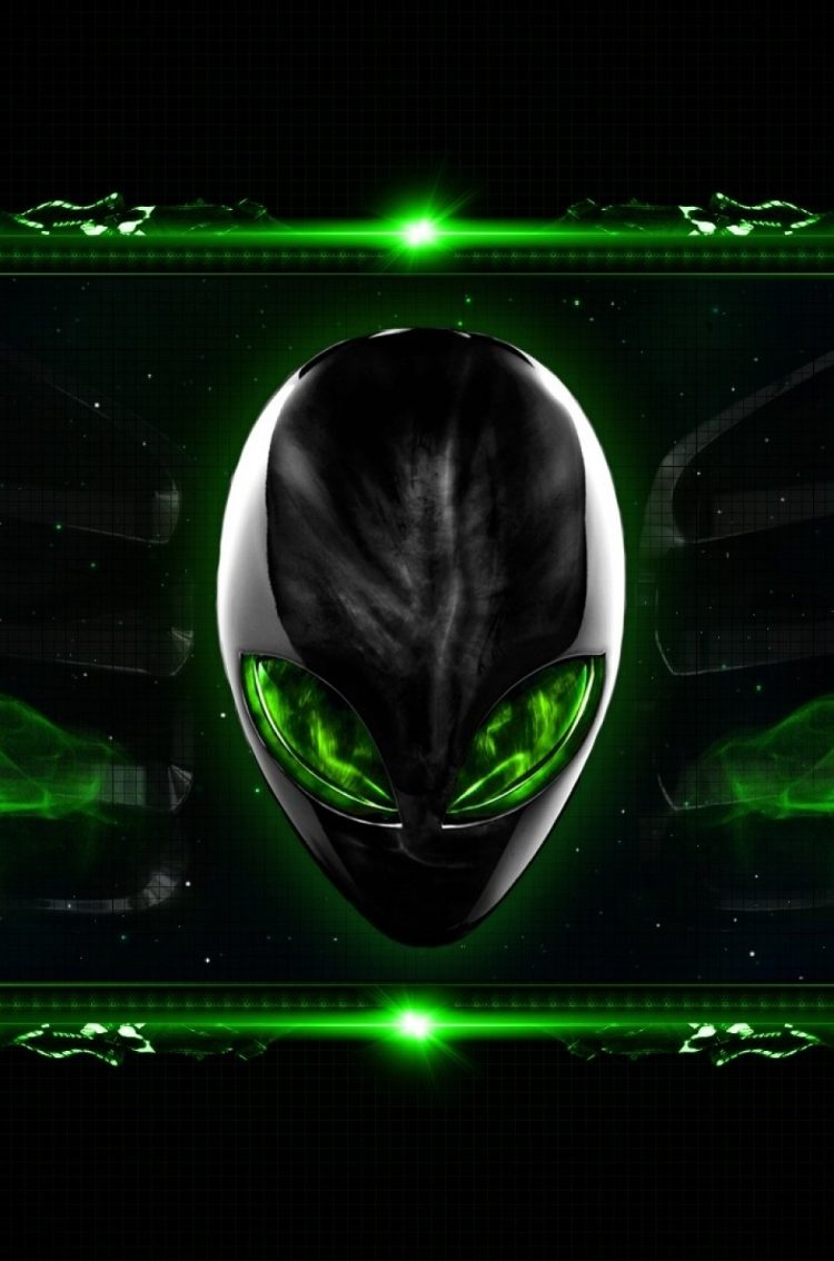 alienware eclipsehead green hd wallpaper