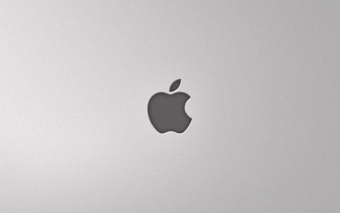 Black Apple Logo On Grey Background