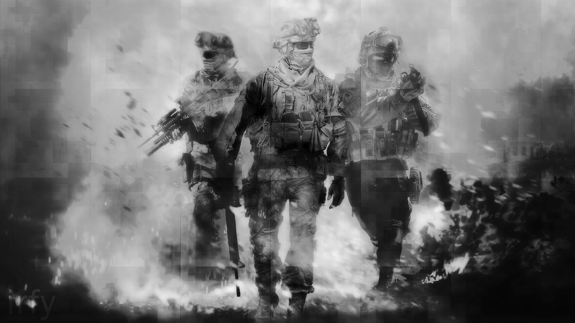 Call Of Duty Modern Warfare 2 B W Hd Wallpaper