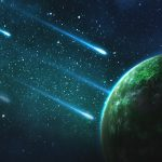 Comets Falling To An Green Exoplanet