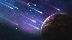 Comets falling to an red exoplanet 4K