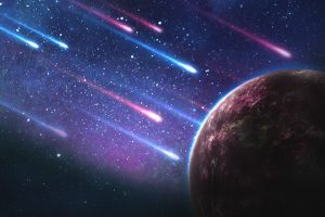 Comets Falling To An Red Exoplanet
