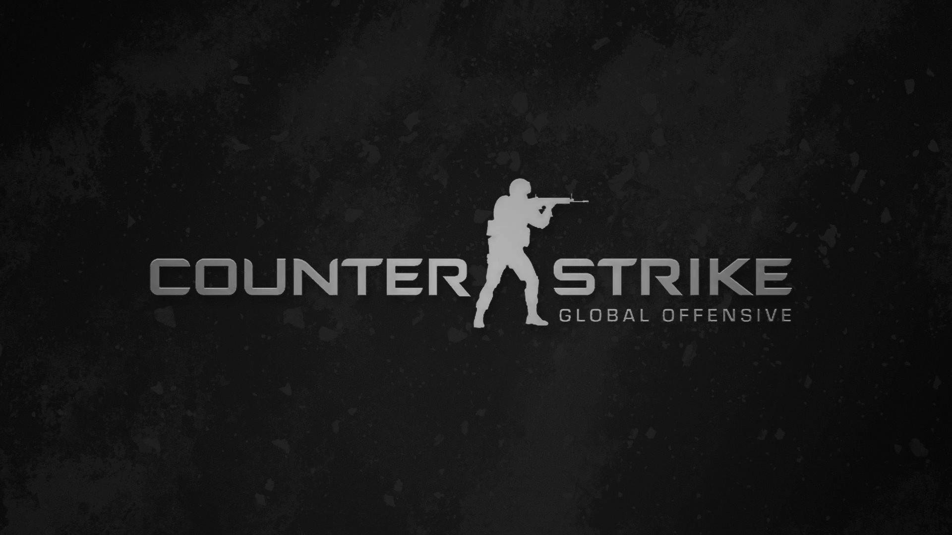 Counter-Strike: Global Offensive (Black Logo) HD Wallpaper
