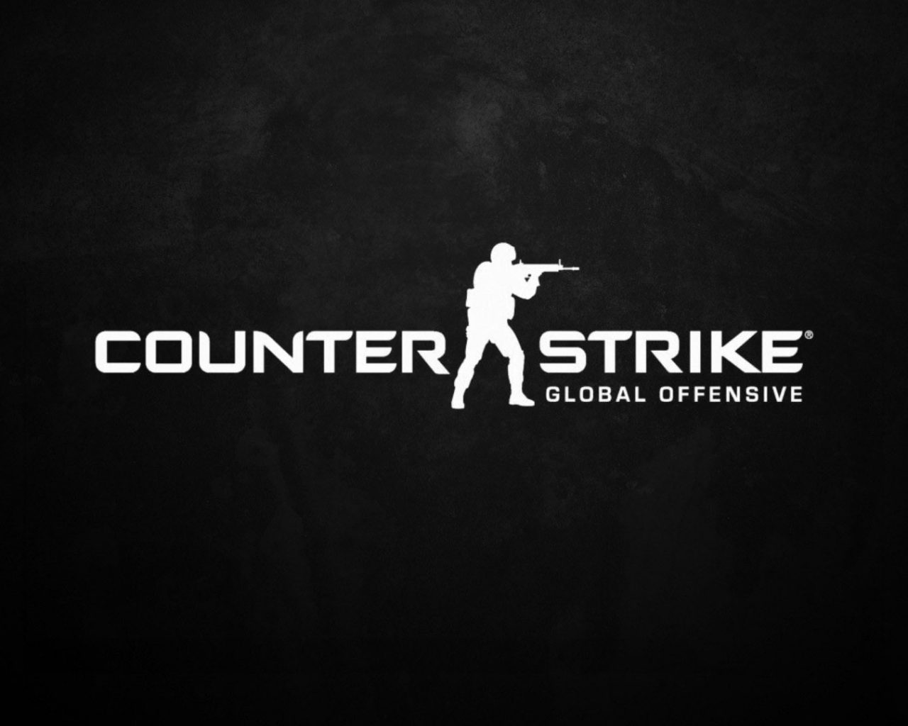 Counter-Strike: Global Offensive (Dark Logo) HD Wallpaper