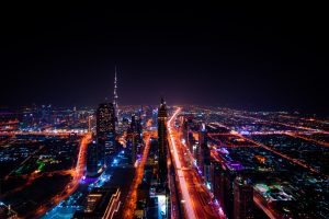 Dubai At Night (United Arab Emirates) 7K