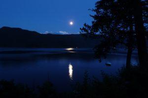 Full Moon Over A Lake