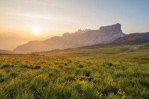 Grasslands At Sunset