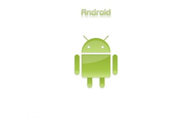 Green Android Logo On White Background