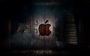 Grunge Apple Logo HD