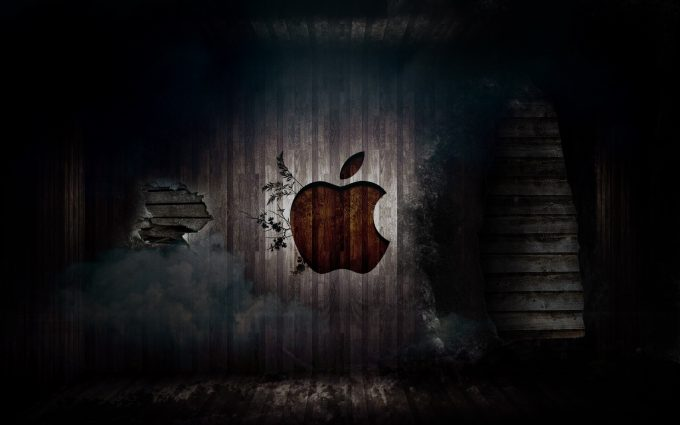 Grunge Apple Logo