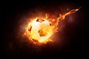 Inflamed Soccer Ball