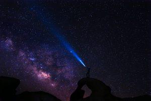 Man looking at the Milky Way 5K