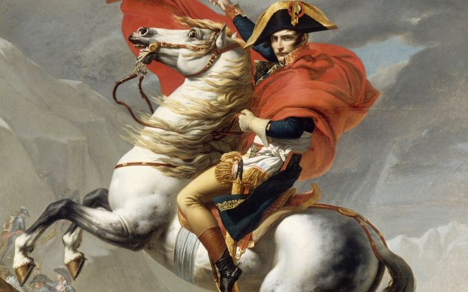 Napoleon Crossing the Alps First Versailles Version