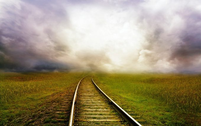 Railway In A Paradisiac Field