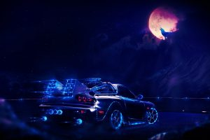 Back to the Future DeLorean At Night