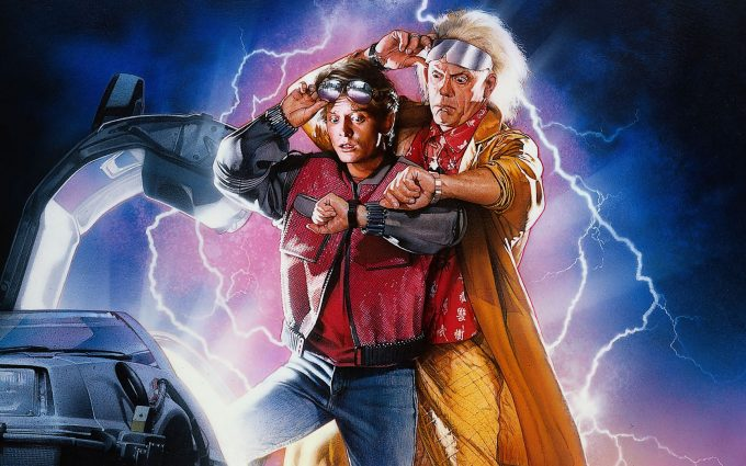 Back to the Future II 1989 Marty McFly Doc Brown