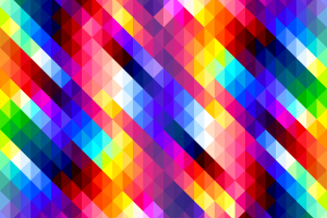 Colorful Diamonds Pattern