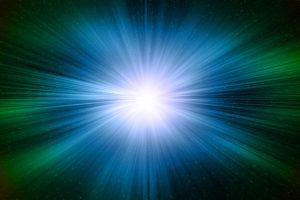 Digital Aurora In The Space (Green & Blue) HD