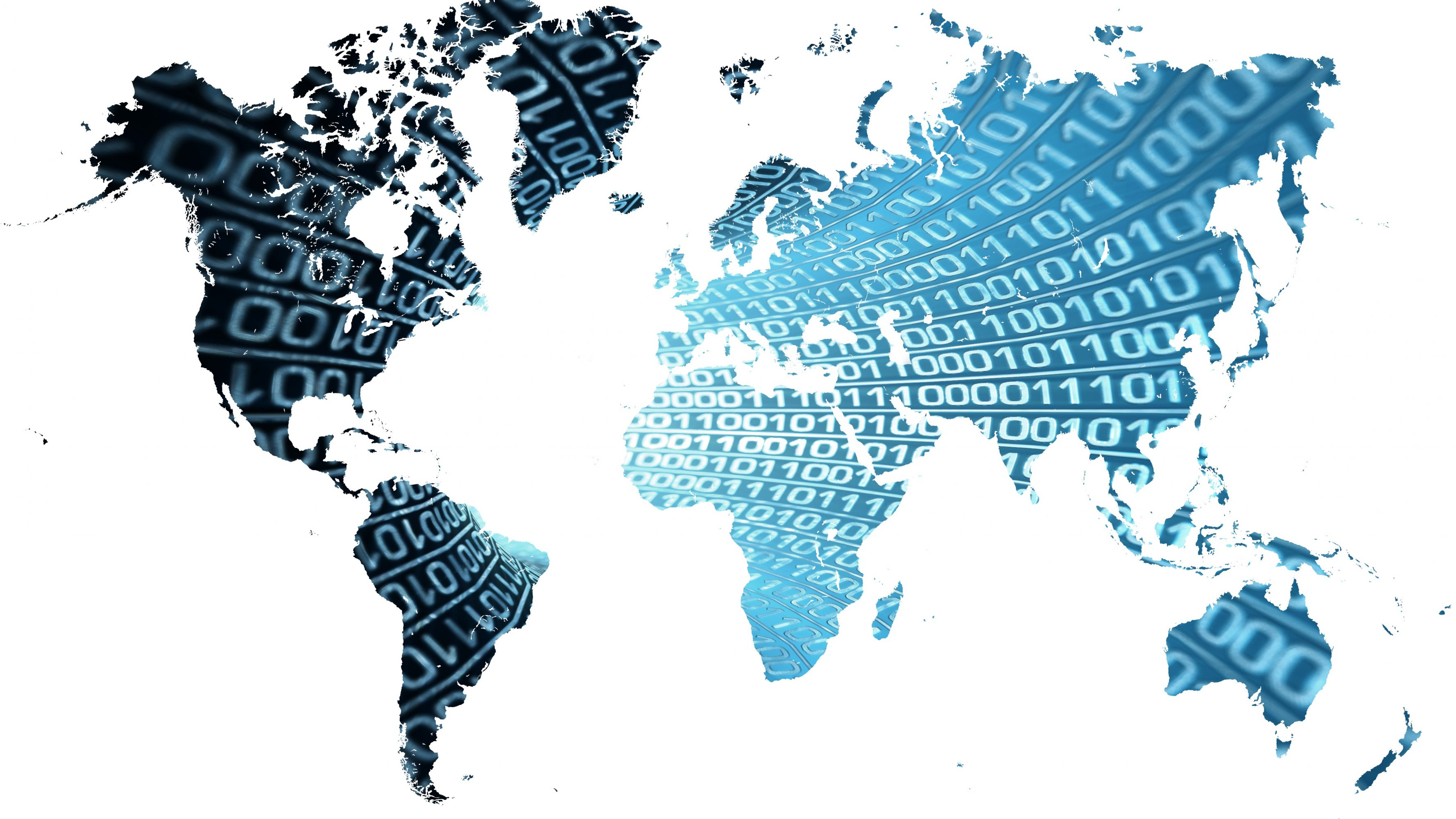 World map 16 9 digital world map with binary numbers blue 5k uhd wallpaper gumiabroncs Images