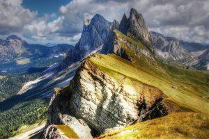 Dolomites Mountains Val Gardena