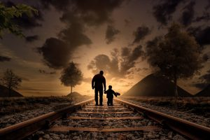 Father and Son At Nightfall HD