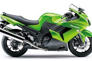 Kawasaki ZZR 1400CC (Green) HD