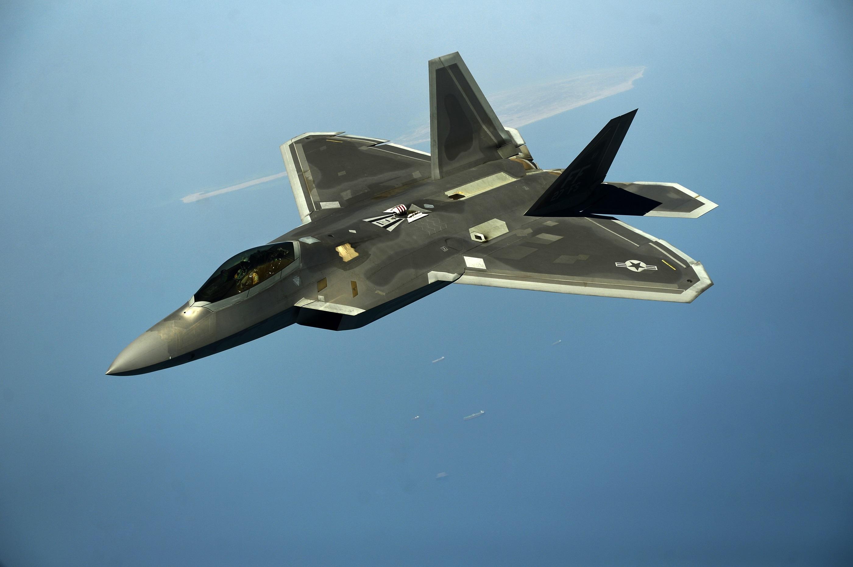Lockheed Martin F 22 Raptor Black Hd Wallpaper
