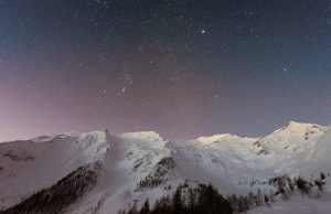 Milky Way Over Snowy Mountains 6K