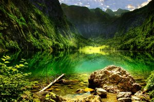 Mountain Lake In The Bavarian Alps