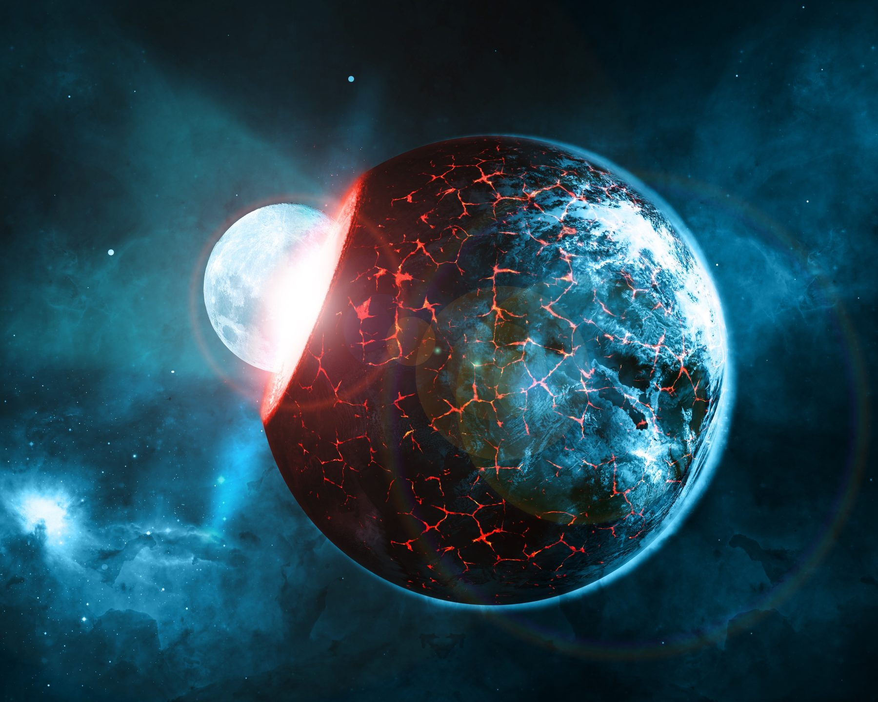 Planet Impact 8K UHD Wallpaper