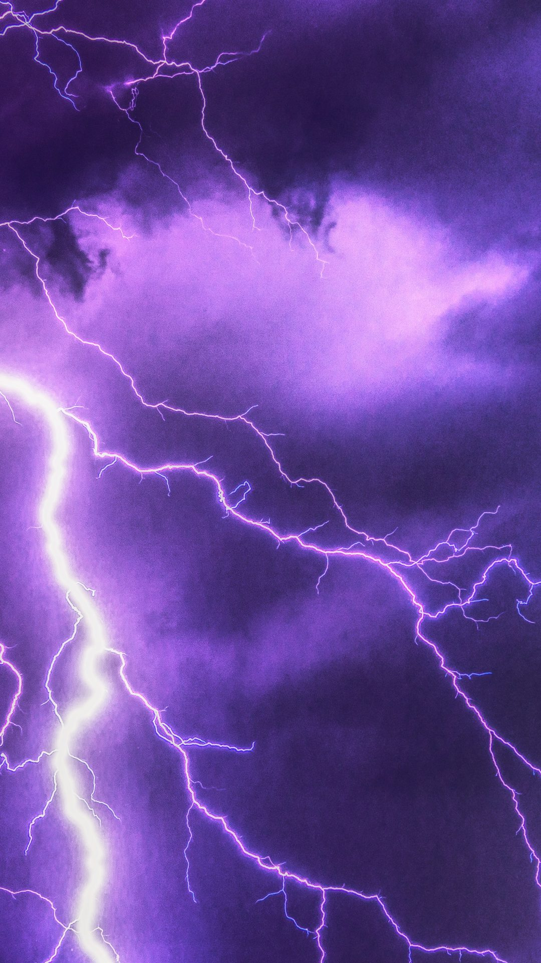 Purple Lightning 6k Uhd Wallpaper