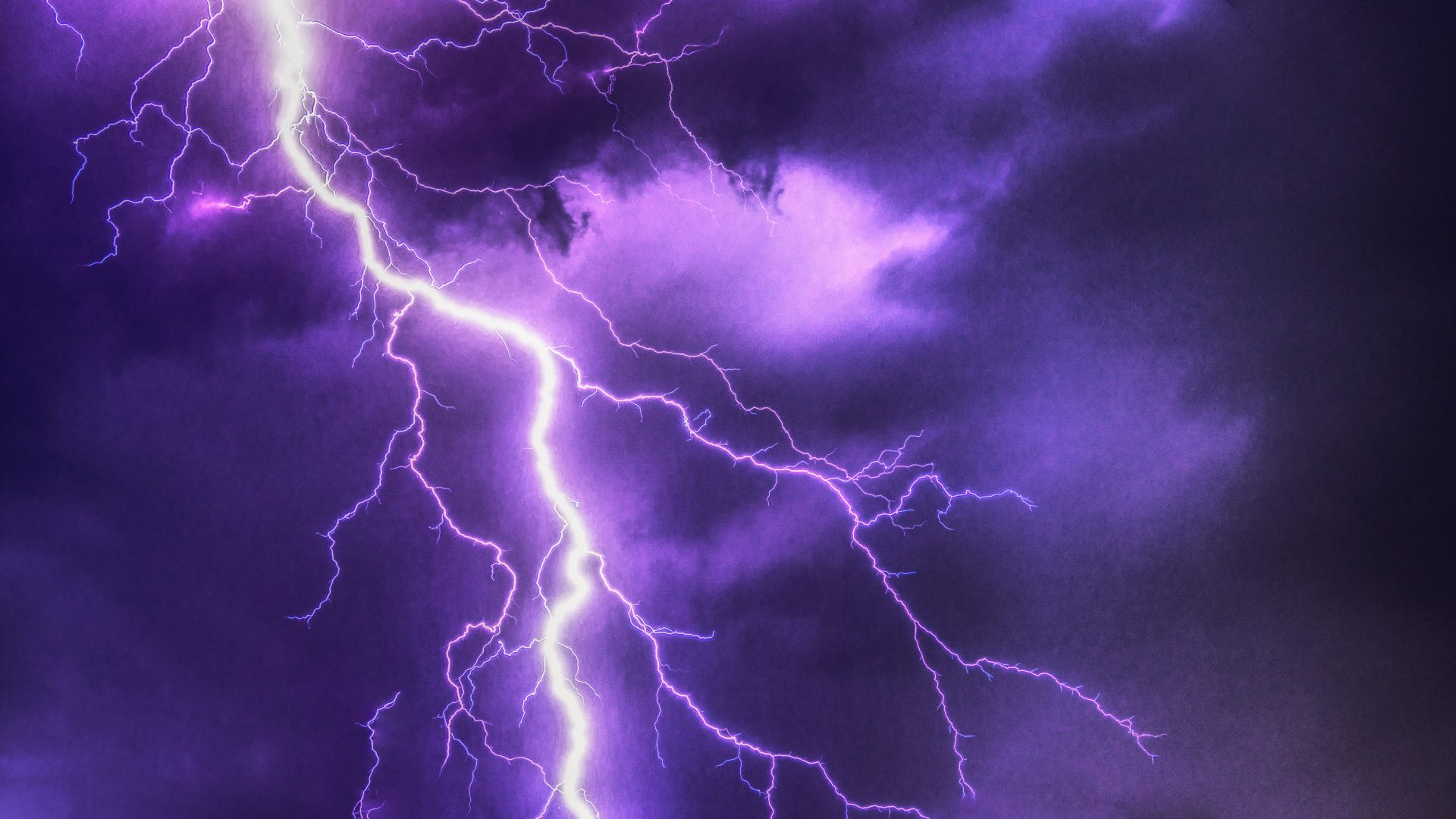 Purple Lightning 6K UHD Wallpaper | Wallpapers.gg
