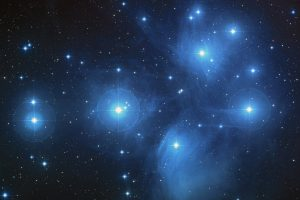 The Pleiades Messier 45 Open Star Cluster