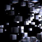 3D Grey Cubes 4K